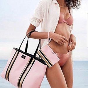 Victoria's Secret   NWOT Light Pink Tote & Cos Bag